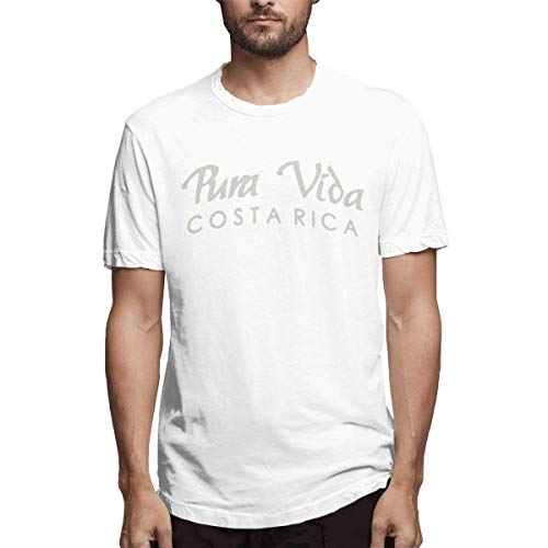 Herren Classic Pura Vida Costa Rica Design Weiß T-Shirt,M