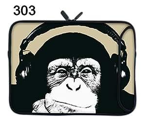 """TaylorHe 15"""" 15,6"""" Housse pour Ordinateur portable Laptop Sleeve Sac de protection Pochette Sacoche en néoprène pour Notebook de 15"""" 15,4"""" 15,6"""" pouces chimpanzé, drôle"""