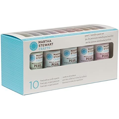 Plaid:Craft Martha Stewart Pearl & Metallic Acrylic Craft Paint Set-10 Colors by Plaid:Craft