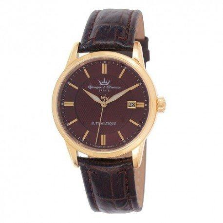 Yonger Bresson & automatico Orologio da uomo, colore: marrone cuoio marrone, 23/8373 YBH