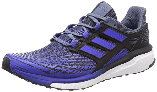 adidas Energy Boost M, Zapatillas de Running Para Hombre, Varios Colores (Raw Steel/Hi-Res Blue/Core Black 0), 42 2/3 EU