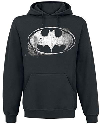Batman Distressed Logo Kapuzenpullover schwarz -
