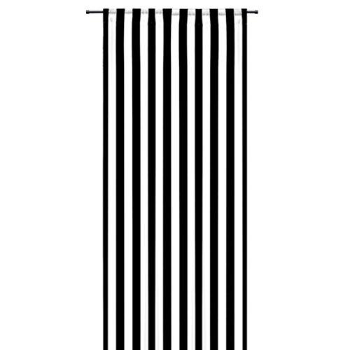 Gardine modischer Dekoschal in Streifen Black&White mit Schlaufenband & Kräuselband HxB 240x140 cmBlockstreifen schwarz weiß - Vorhang in weichfliesender Qualität blickdicht gestreift - sehr schöner Fallauspacken, aufhängen, fertig! Schlau...