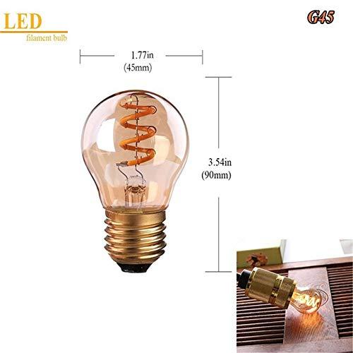 Szenenlicht,Led Lampe Edison 3W Braun Warm Gelb 2200K Dimmbar G45 /