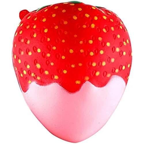 squishys juguete, fundido Power Cute 11,5cm Fresa Squeeze Stress Relief Super Suave lentamente Rising, Soft squishies kawaii de descompresión toy para niños & Adultos San Valentín Regalo