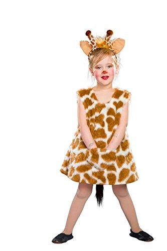 Festartikel Müller Kinder Kostüm Giraffe Kleid Haarreif Karneval Fasching Gr.140/152