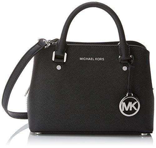 Michael Kors Damen Savannah Tote, Schwarz (Black), 4x7x10.5 centimeters (Schwarze Michael Kors Große Handtaschen)
