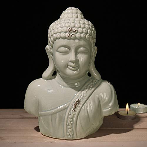 MyGift Buddha-Statue aus Keramik, 17,8 cm, Grau - Buddha-statue In Japan