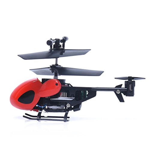 RC 5012 2CH Mini RC Helicopter Radio Remote Control Plane Micro 2 Channels by ASHOP (Red)