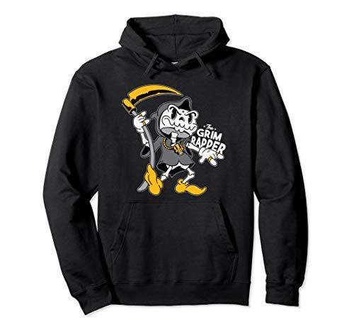 Grim Rapper Lustige Grim Reaper Sense Gruselig Skull Pullover Hoodie (Jungen Rapper Kostüm)
