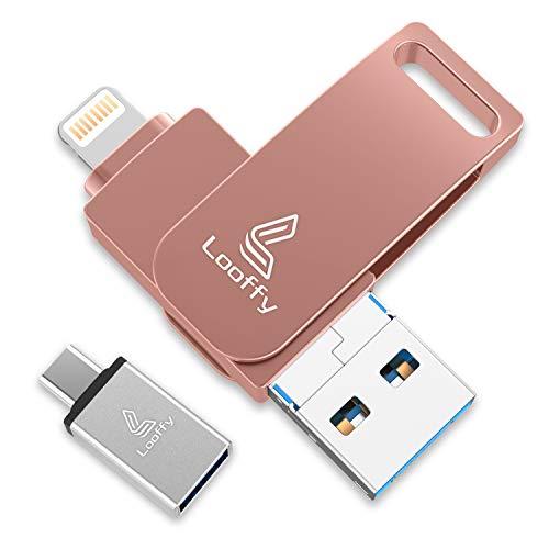 tablet iphone Looffy Chiavetta USB 128GB per iPhone Memoria USB 3.0 iOS Flash Drive Pendrive Type C per iPhone iPad Android Smartphone Tablet PC Macbook 4 in 1