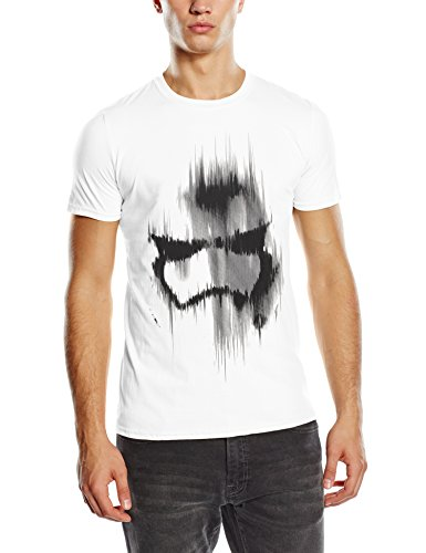 Star Wars Star Wars Trooper Mask-T-shirt  Uomo    bianco Medium
