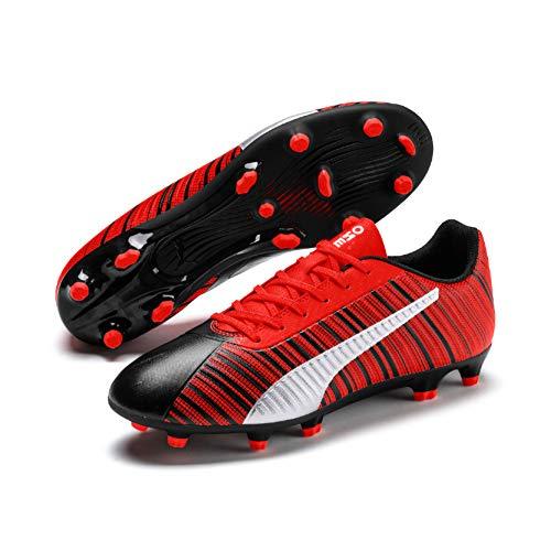 puma one 5.4 fg/ag', scarpe da calcio uomo, nero black-nrgy red aged silver, 43 eu