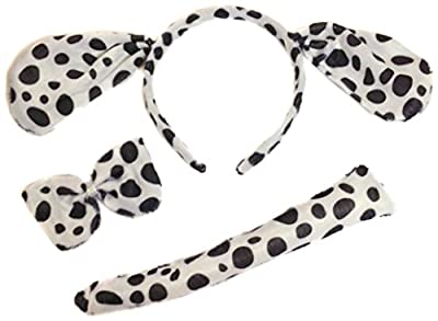 Allsorts® Dalmation Fancy Dress Dog Outfit Dressing Up Dog Set Instant Kit Animal Dressing Up Costume by Allsorts®