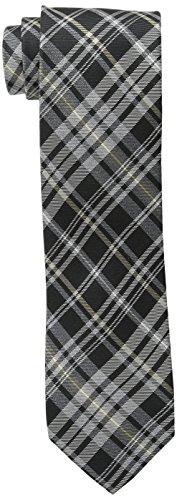 Cole Haan Men's Hudson Plaid Tie, Black, One Size Mens Black Cole Haan