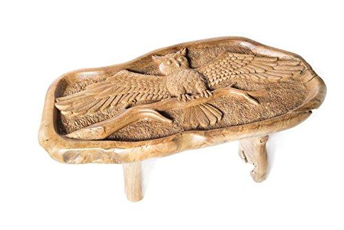 Windalf Table Basse Design MIA L 106 cm avec Plateau en Verre fabriqué à la Main