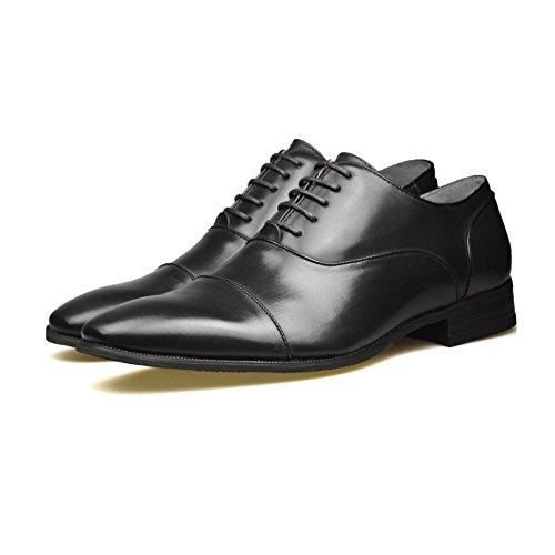 Chaussures à boucle pour homme en Cuir Noir Taille FR 39-46 Noir