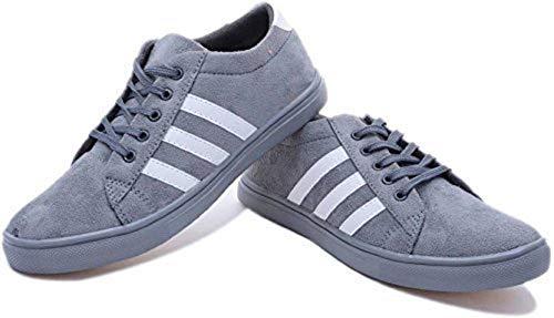Dimara Men's Light Blue Canvas Sports Shoes - 7