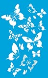 34cm x 21cm Flexibel Kunststoff Universal Schablone - Wand Airbrush Möbel Textil Decor Dekorative Muster Design Kunst Handwerk Zeichenschablone Wandschablone - Schmetterlinge