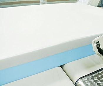 Baldiflex Matelas 2 couches Monozone 9 + 3 cm de mousse de mémoire, Silver Safe, coussin modèle flocon inclus. 100x200x14 cm