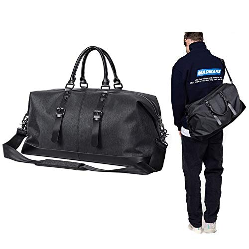 SYFO Mehrzweck-Golfkleidungstasche Oxford-Stoff-Fitness-Reisetasche for Herren mit großem Fassungsvermögen Tragbarer Tragegriff Mit Schultergurt for einfaches Reisen Robustes und langlebiges Schwarz -