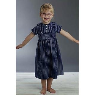 Fischerkleid für Kinder breit gestreift klassischer Stil von Modas Größe 86
