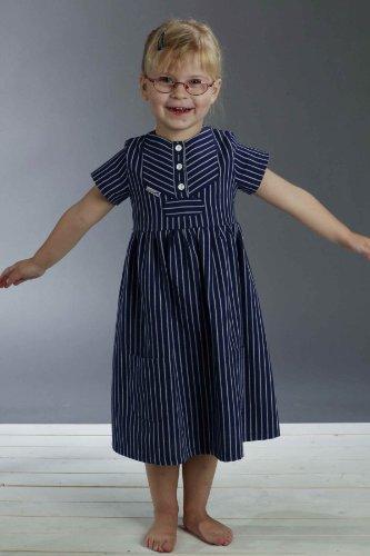 Fischerkleid für Kinder breit gestreift klassischer Stil von Modas Größe (Matrose Kleinkind Kostüm Mädchen)