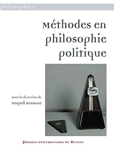 Méthodes en philosophie politique par Collectif