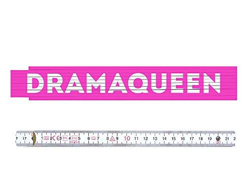 ZOLLSTOCK Maßstab Metermaß Pink DRAMAQUEEN Geschenk Heimwerkerin Frau