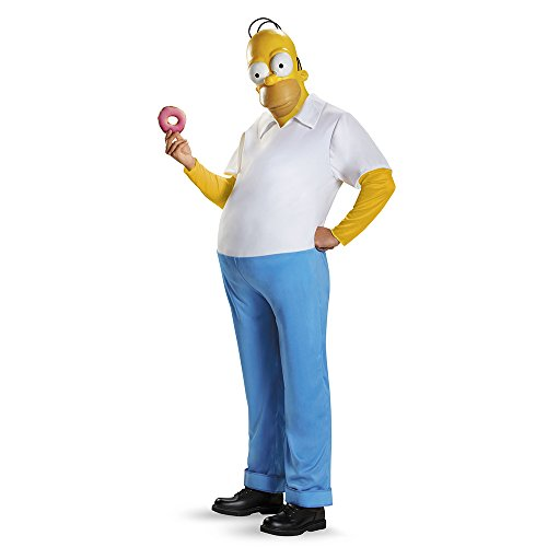 The Simpsons Homer Deluxe Adult Costume XX-Large 50-52