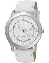 Esprit Damen-Armbanduhr Carmel White Analog Quarz Leder ES104502002