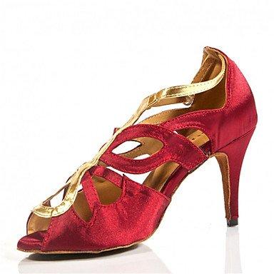 Scarpe da ballo-Personalizzabile-Da donna-Balli latino-americani / Jazz / Salsa / Samba / Scarpe da swing-Tacco su misura-Raso-Nero / Pink