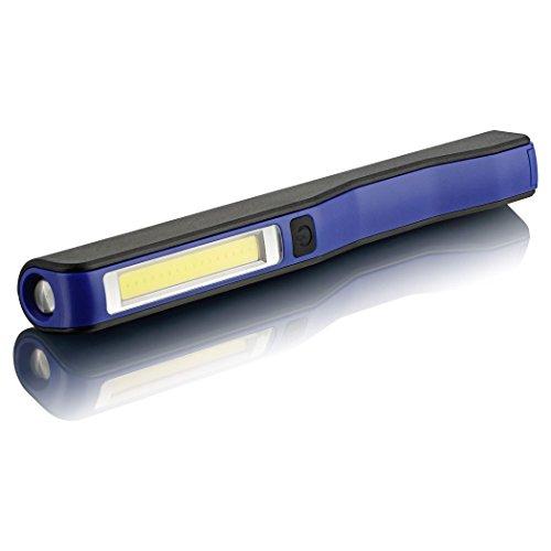 SEBSON LED Arbeitsleuchte mit Akku (USB Anschluss), Magnet, 120° drehbarer Clip (klemmbar), Werkstattlampe 3W magnetisch, Taschenlampe 1W, Stableuchte aufladbar