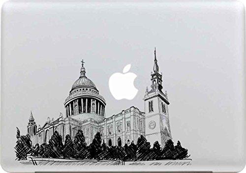 illshine Removable Schwarz Kreativ Macbook Sticker Aufkleber Skin Laptop Vinyl Decal Sticker Abziehbild Abziehbilder (Schloss) ()