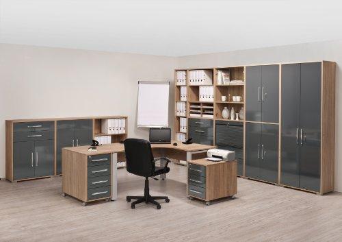 MAJA-Möbel 1733 5525 Aktenregal, Sonoma-Eiche-Nachbildung, Abmessungen BxHxT: 80 x 214 x 40 cm