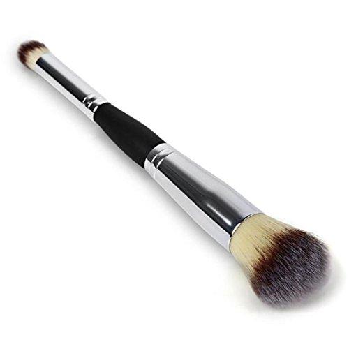 Dégagement!!!,❤️ ♬♬ ❤️ LMMVP Brosses Cosmétiques Contour Visage Blush Fard à Paupières Poudre Maquillage Fondation Outil RD (1PCS, Argent)