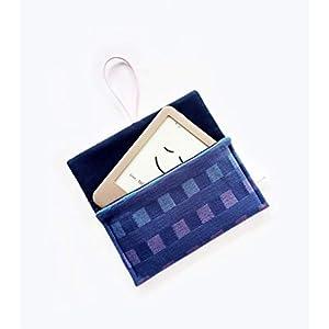 Schutzhülle für ereader oder kleines Tablet Hülle für Lasegerät Tasche Cover Sleeve Bag für Kindle Tolino Feuer 7 Kobo. Kleines Geschenk. Blau – Rosa