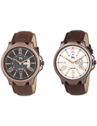 Watch Me Day And Date Analog Watches Gift Combo Set Of 2 Watches For Men And Boys DDWM-021-023bys
