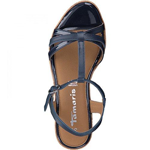 Tamaris Ladies 28347 T-t-sandali Blu (navy Pianura)