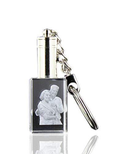 VIP-LASER 2D LED-Schlüsselanhänger mit Deinem Wunsch-Foto graviert -