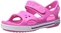 Crocs Crocband II PS Unisex Kids' Sandals - Neon Magenta/Neon Purple, 11 UK Child (28-29 EU) (28-29 EU)