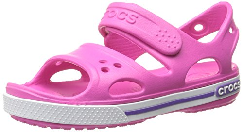 Crocs Boy's Crocband II Sandal PS Neon Magenta and Neon Purple Rubber Sandals and Floaters - C10 (14854-6N4)  available at amazon for Rs.1995