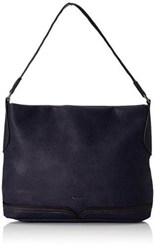 Tamaris Damen Vanja Hobo Bag Schultertaschen, Blau (Navy Comb 890), 30x25x11 cm