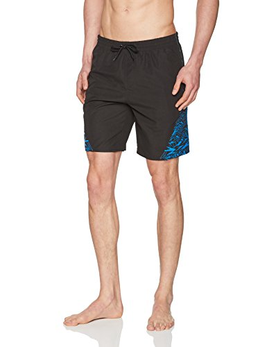 Speedo Herren Boom Yoke Splice Watershorts, Black/Danube, M/18 Zoll (Yoke Soft)