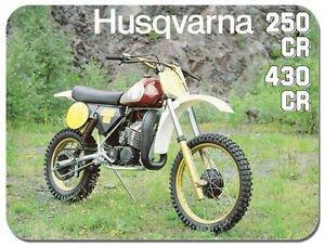 Preisvergleich Produktbild HUSQVARNA 250 CR 430 CR Motorrad AD Mauspad. Motorcycles Geschenk Mauspad