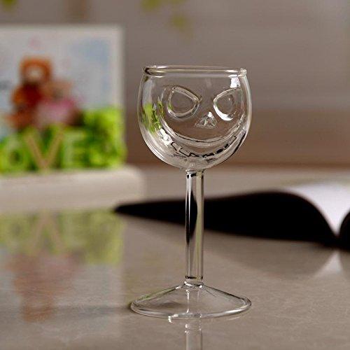 TOPmountain Crâne de cristal Coupe de verre à vin Goblet Halloween à manger Party Bar KTV Boisson de cuisine Creative Ghost