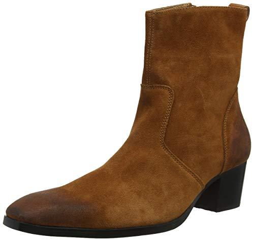 Herren Stiefel High Heels Herren Kleid Schuhe mit Reißverschluss Stiefel Wildleder OZ-JY002 (Herren-stiefel-13)