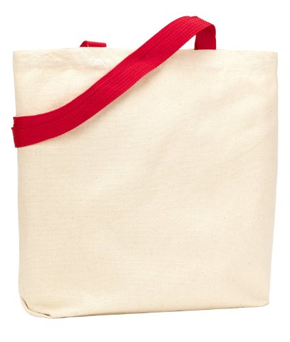 UltraClub by Liberty Bags, Borsa tote donna Natural/ Red