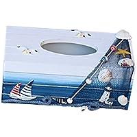 Sharplace Tissuebox Kosmetiktücherbox Maritime Taschentuchspender Kosmetiktuch