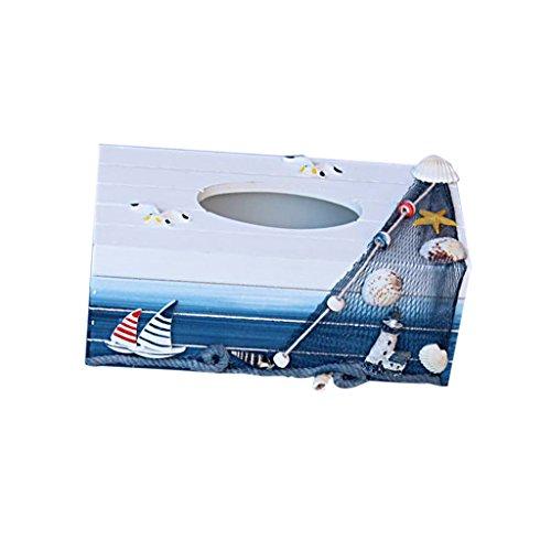 Sharplace Tissuebox Kosmetiktücherbox Maritime Taschentuchspender Kosmetiktuch (Tissue Cover Strand Box)